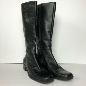 Naturalizer Leather Mid Calf Zip Boots Size 10M